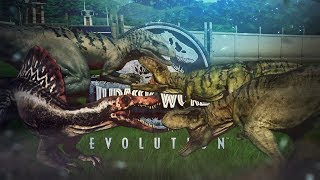 Jurassic World Evolution - THE END RESULT. - 100% Mutated Giga VS Indom, Rex & Spino - JW:E Gameplay