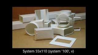 System płaskich kanałów wentylacyjnych 55x110 mm 'System 100' Vents - www.instalszop.pl