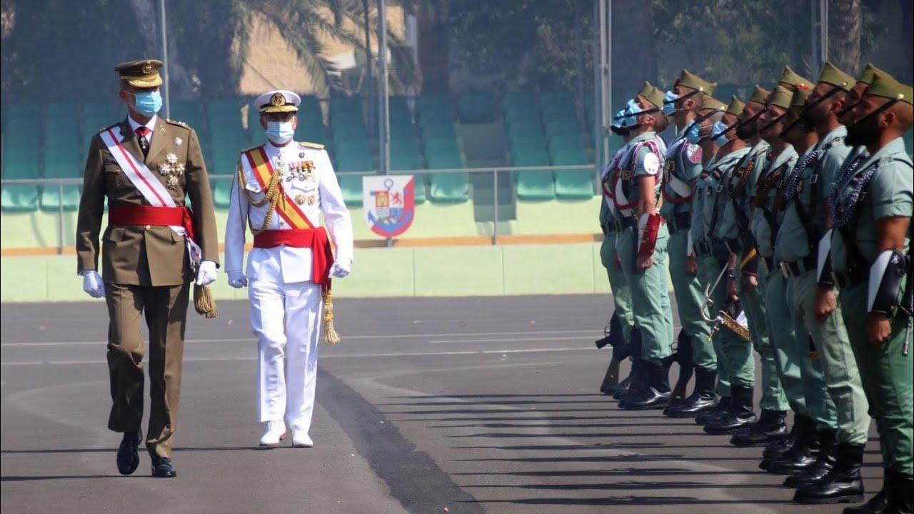 La Legión: Acto central del Centenario en la base Álvarez de Sotomayor de Viator (Almería)