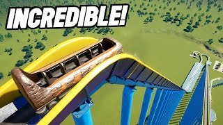 THE HIGHEST LOG FLUME IN THE WORLD! (Planet Coaster Beta)