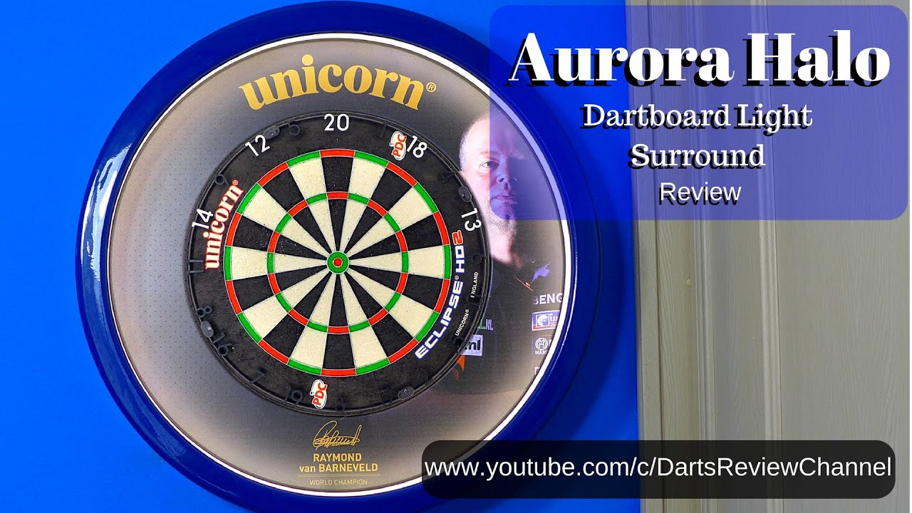 Aurora Halo Dartboard Lighting Surround Review - YouTube