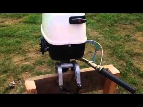 мотор салют 2л.с. на лодке Колибри 330 - YouTube