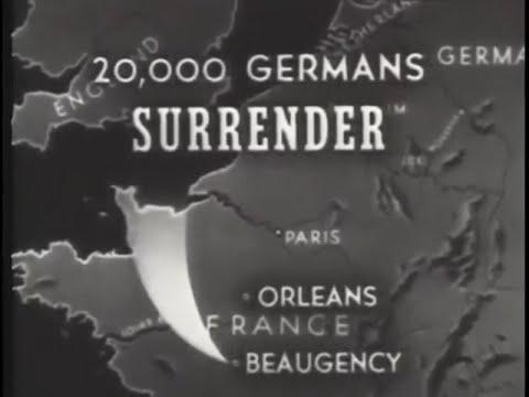 Germans Surrender at Beaugency, France