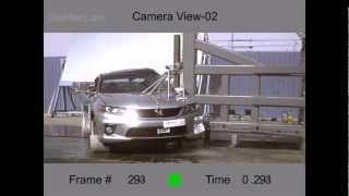 2013 Honda Accord Coupe   NCAP Pole Crash Test by NHTSA   CrashNet1
