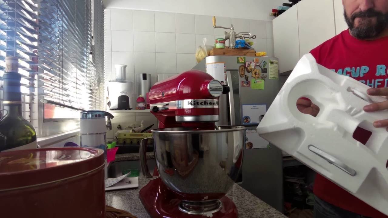 Kitchenaid Artisan Stand Mixer Unboxing Youtube