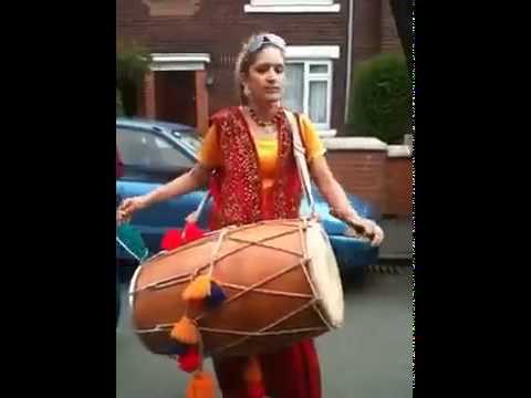 Punjabi Girl with drum