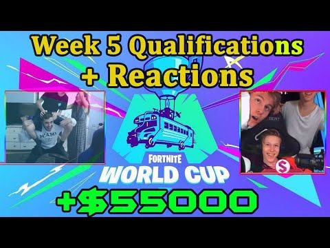 Fortnite World Cup *EMOTIONAL* Reactions To Qualification *WINNING* $50000 *WEEK 5*