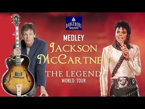 Michael Jackson ft Paul McCartney - Medley  - The Legend World Tour
