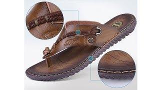 Men's Leather Slippers 2019 | Luxury Brand Leather Slipper