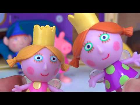 Nick Jr. LITTLE KINGDOM Ben and Holly Little Castle, Bedtime Toy Hunt Pajama Party PEPPA PIG / TUYC