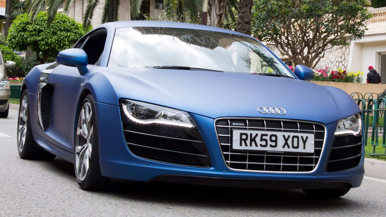 MATTE BLUE AUDI R8 V10   Walkaround 2014 HQ   YouTube
