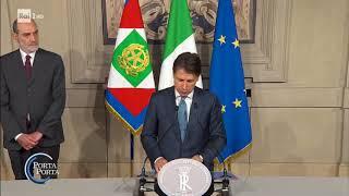 Il Premier Giuseppe Conte - Porta a porta 23/05/2018