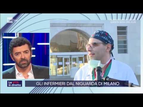 Gli infermieri dal Niguarda di Milano - La vita in diretta 17/03/2020