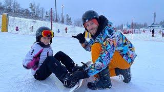 Первый раз на сноуборде 11 января 2021 Сорочаны горнолыжный курорт