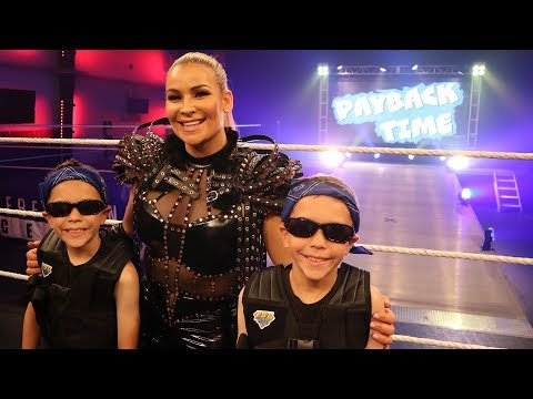 Super Stars In Training! WWE Team Up With Twin Toys! Challenged By Kids Fun TV!