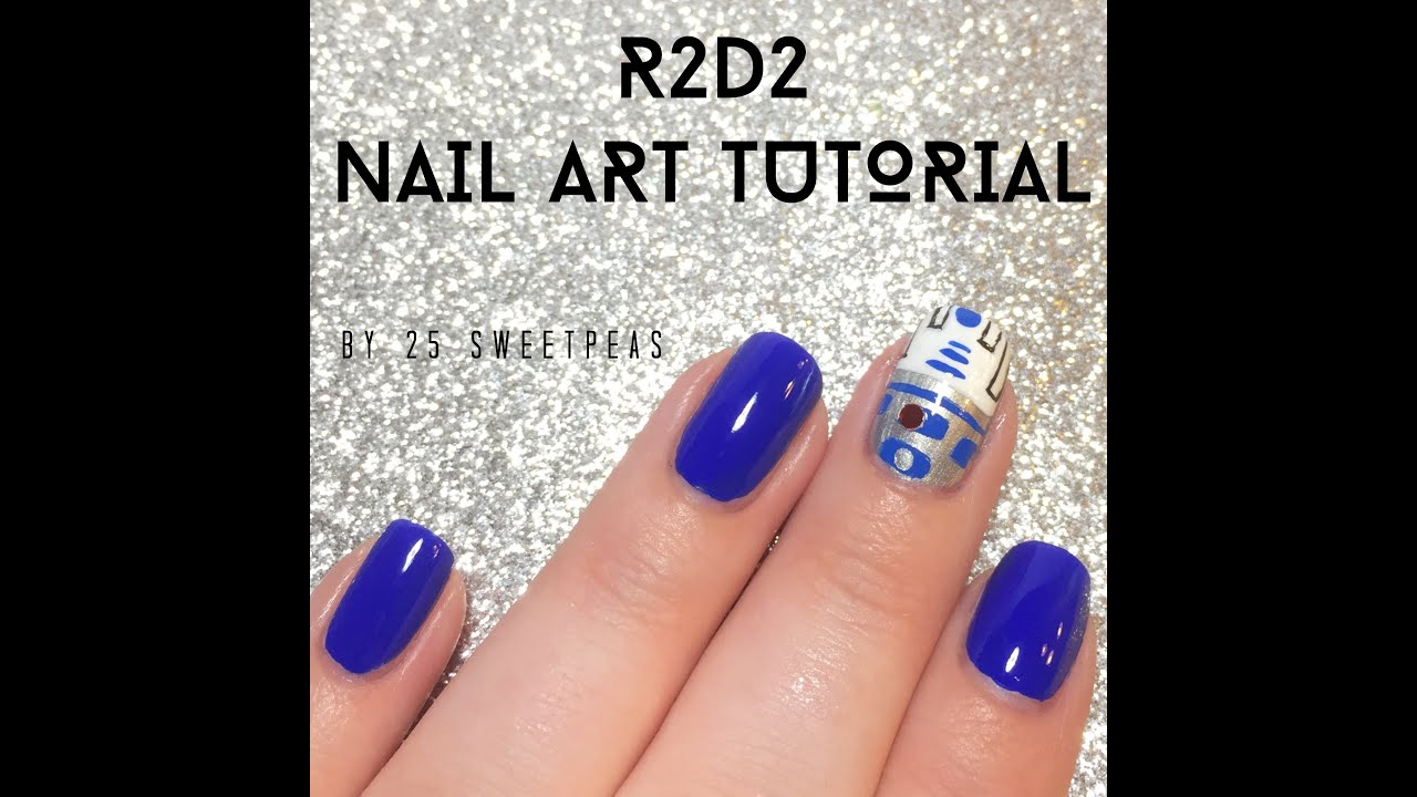 Nail Art On Youtube: R2D2 Nail Art Tutorial