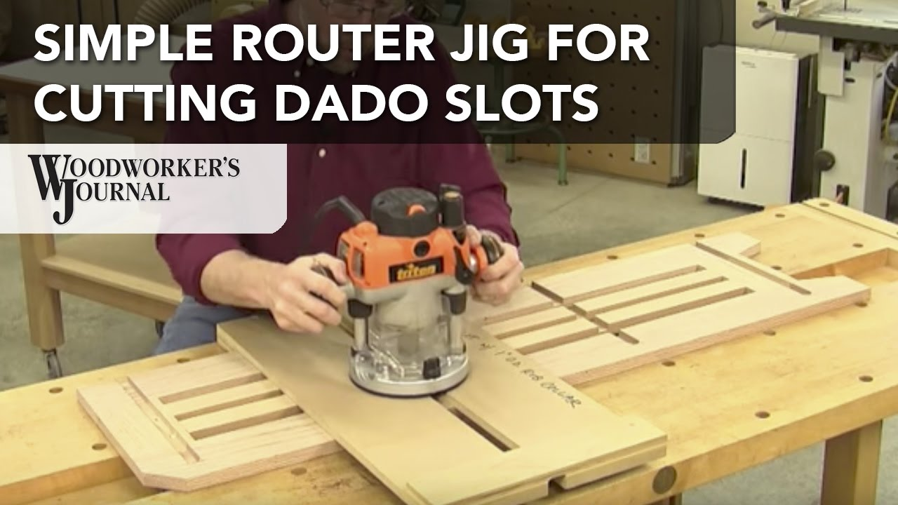 Router slot cutting jig