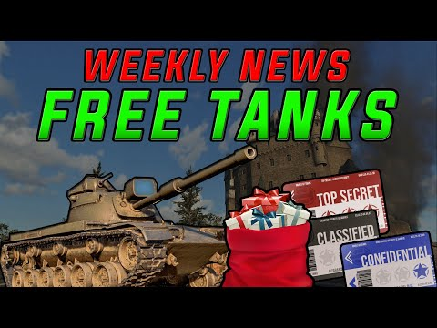 Loads of FREE Tanks!!! World of Tanks Console Weekly NEWS! WoT PS4