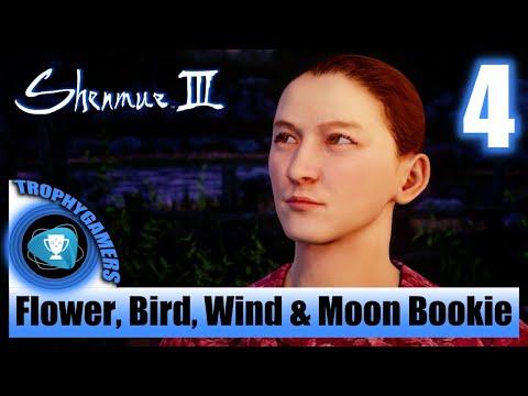 Shenmue 3 - Find The Flower, Bird, Wind & Moon Bookie - Chop Wood Job - Walkthrough Part 4