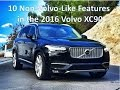 The 2016 Volvo XC90 sport utility vehicle