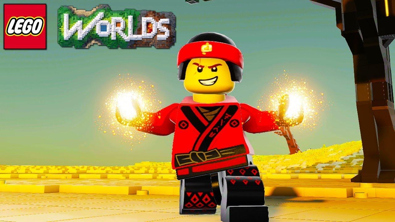 LEGO Worlds Kai from LEGO Ninjago Free Roam Gameplay