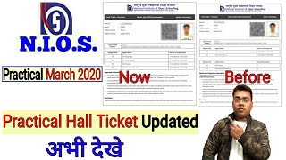 NIOS   March 2019   Practical Hall Ticket Updated