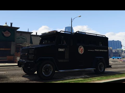 GTA V Mods | Showcases | LAPD SWAT Truck - YouTube