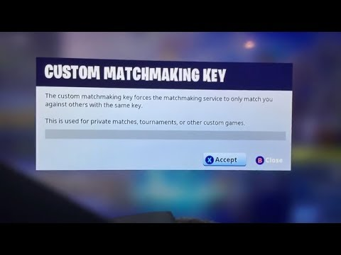 How to start custom matchmaking