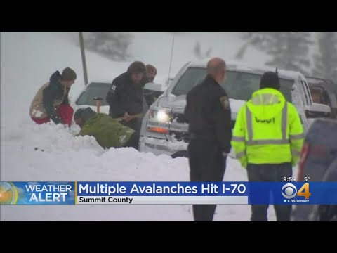 Rough Day On I-70: Multiple Avalanches Hit Interstate, Some Drivers Get Stranded
