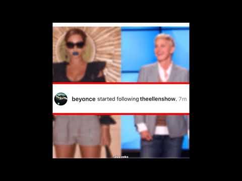 Beyonce just followed Ellen on instagram!!!