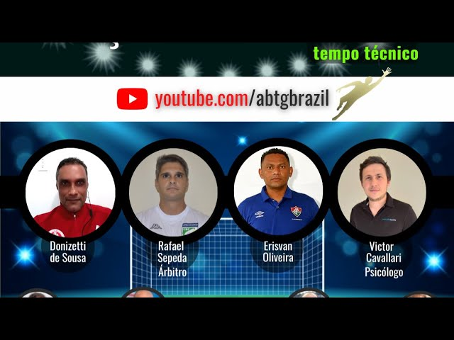 Donisetti Souza, Erisvan Oliveira, o Árbitro Rafael Sepeda e o Psicólogo Victor Cavallari na ABTG