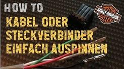 Ganz einfach Stecker auspinnen | How to | Harley Davidson | Lenkerumbau etc.