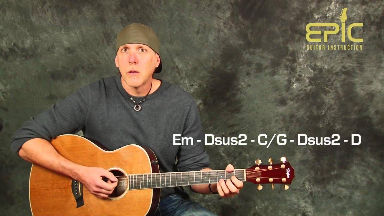 Learn Matchbox 20 Twenty Push Fun Guitar Song Lesson Beginner