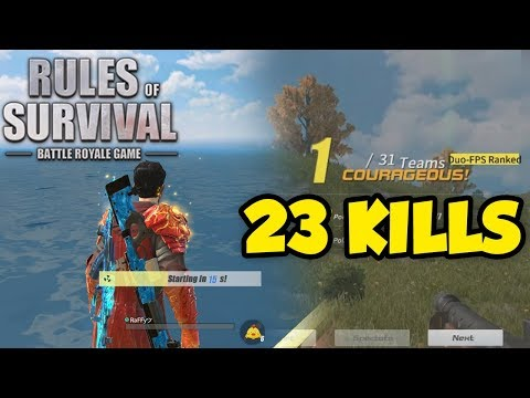 DUO 23 KILLS CHICKEN DINNER   (Rules Of Survival: Battle Royale #1)