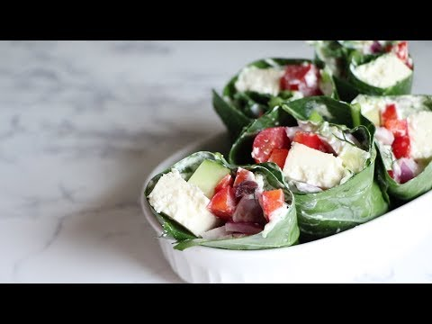 keto-vegetarian-greek-collard-wraps