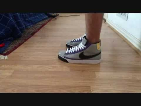 fba127752b9d7 ... Nike Blazer Mid Premium DQM SAMPLE 2008 on feet - YouTube ...