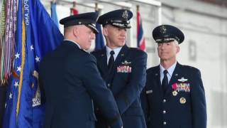 Brig. Gen. Evan Dertien takes command of Eglin's 96th Test Wing in ceremony Wednesday.