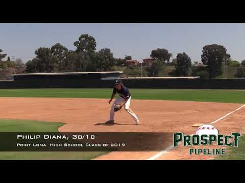 Philip Diana Prospect Video, 3b 1b, Point Loma High School Class of 2019