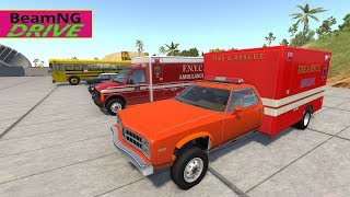 High Speed Jumps | Crashes #10 | BeamNG  Police car, Ambulance, Fire Truck