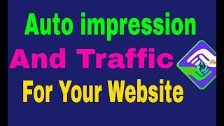 how to your website auto traffic impression for thunkable