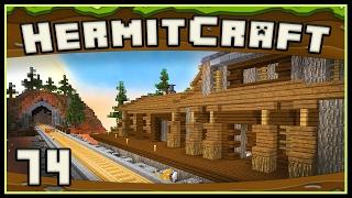 HermitCraft 4 - Minecraft: Western Train Station And Depot Design