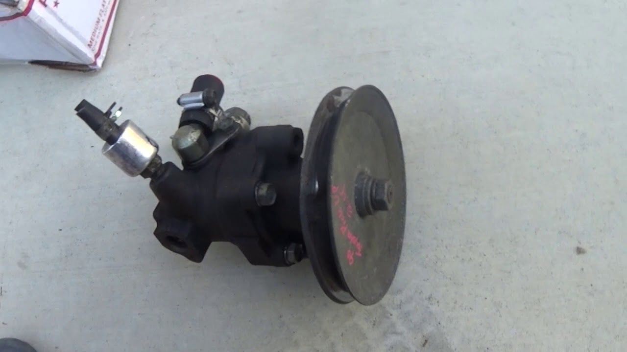 Replacing 1991 Toyota Pickup power steering pump