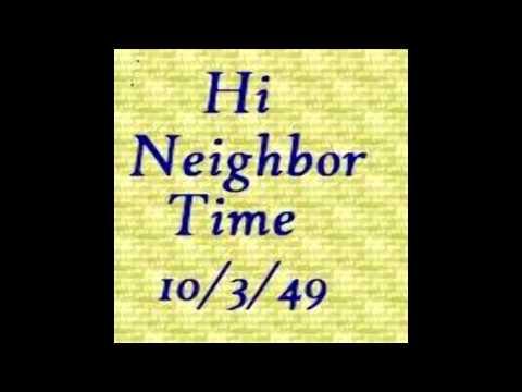 Joe Rumore Hi Neighbor Time, October 3, 1949