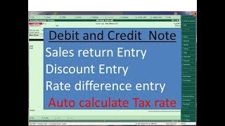 Tally ERP 9  Debit & Credit Note Entry  (Auto calculate GST, IGST