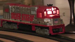 ho tyco china video runs on track diesel loco silver streak red union pacific up