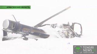Видео с места крушения вертолета в Алматинской области(На видео с места крушения видно, что в зоне обрушения по-прежнему бушует непогода. От вертолета осталась..., 2016-01-28T11:17:03.000Z)