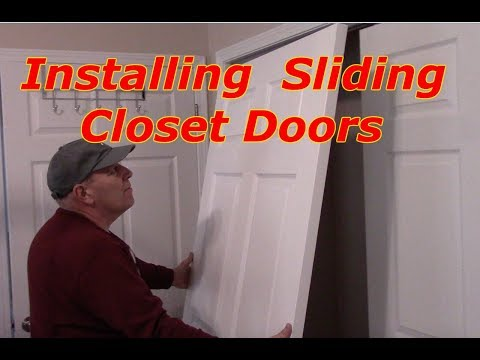 How To Install Bypass Sliding Closet Doors