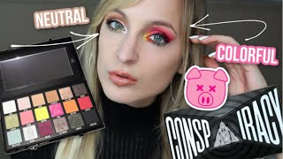 SHANE X JEFFREE CONSPIRACY PALETTE LIVE SWATCHES & TWO LOOKS!