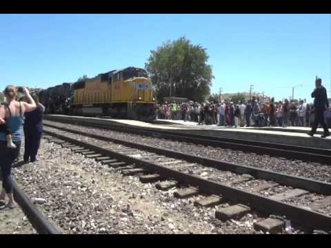 Union Pacific Big Boy 4014 on the road to restoration: West Colton to Barstow 4-28-14