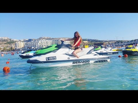 MALTA VLOG 2016: 1st Time on Jetski + Sick water shots